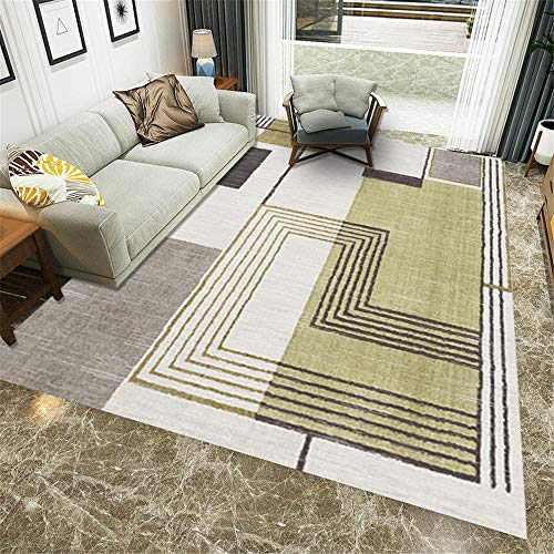 Modern Easy Clean grey Patio Rugs Waterproof Large Bedroom Carpets Outdoor Carpet Modern geometric carpet,lounge,corridor,coffee table,office 120×160CM