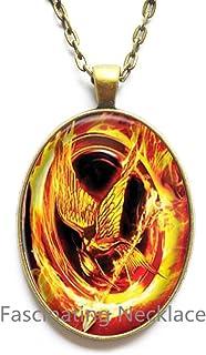 Charming fashion Locket Necklace,Locket Pendant Glass Cabochon Locket Necklace Phoenix Dragon statement Locket Necklace Yin Yang chain jewelry-HZ00230