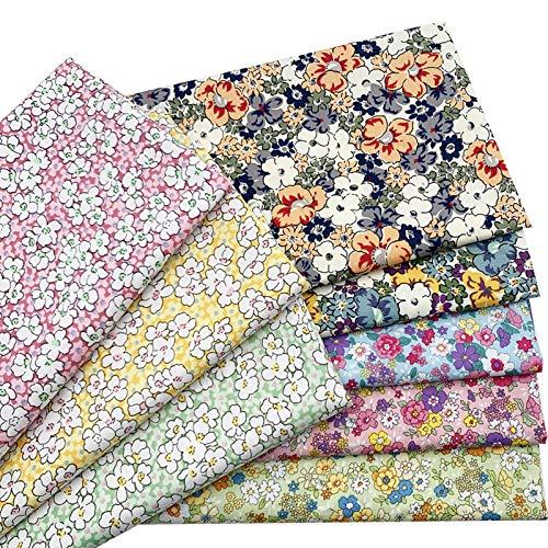 Ibalulu 8 piezas 48 x 48 cm tela de algodón por metros para coser, patchwork, telas de costura, manualidades, mezcla de tela, flores