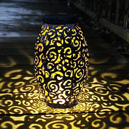 Farol Solar Exterior Jardin, MMTX LED Lámpara Solar Jardín Luz Colgante Solar del Jardín Luces de Linterna Impermeable Portátil para Jardín Patio al Aire Libre Partido Decorativo