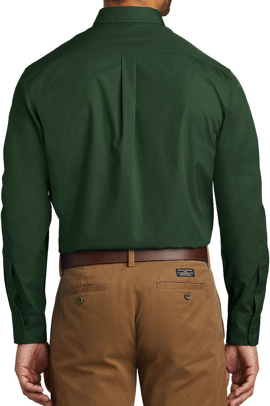 Men's Long Sleeve Professional Uniform Carefree Poplin Shirt