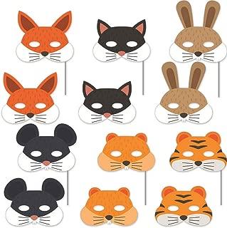 Wildbaum Tiermasken f/ür Kinder Tiermasken AJOYCN Kinder-Schaumstoff-Masken aus Eva-Schaumstoff Partyt/ütenf/üller Fuchs