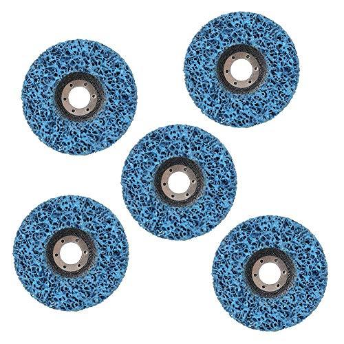 5pcs Poly Strip Abrasive Disc Rust Paint Remover Limpieza de la muela abrasiva para la eliminación de pintura u óxido de los paneles del automóvil Superficies de madera o fibra de vidrio.(115*14*22)