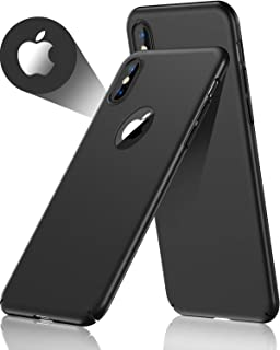 CASEKOO iPhone Xs Max Case Slim Fit Ultra Thin Hard Plastic Cover Matte Finish with Great Grip Compatible with iPhone Xs Max 6.5 inch ONLY [Shell Series] - Phantom Black