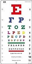 Snellen COLOR Eye Chart Non-Reflective Matte Finish Wall Eye Chart 20 Feet