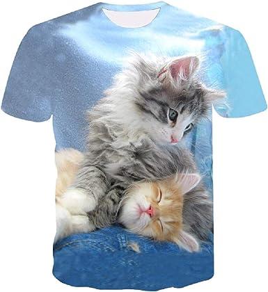C0y18 - Camisa de Gato - Camiseta - Camisa de Gatito - Gatito ...