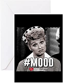 CafePress I Love Lucy #Mood Greeting Card, Note Card, Birthday Card, Blank Inside Matte