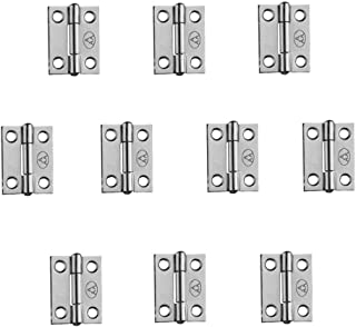 Adiyer [10 Pack] 304 Stainless Steel Butt Hinges for Cabinet Cupboard Jewelry Box (25mm x 18.5mm x 0.8mm)