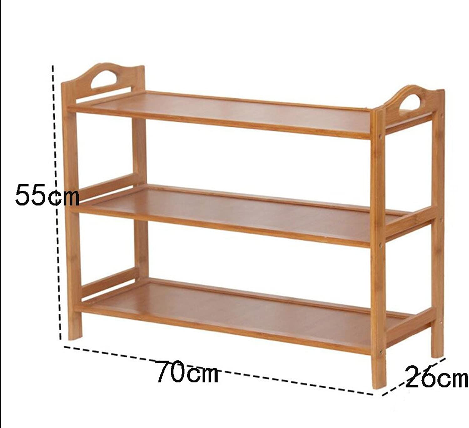 shoes Bench Organizing Rack shoes Racks Three Layers of Bamboo shoes Shelf shoes Display Stand Multi - Storey dust Shelves Home shoes Cabinet (color   1, Size   70CM)