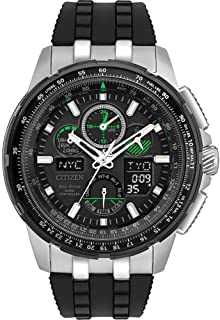 Citizen JY805108E / JY8051-08E / JY8051-08E Skyhawk Mens Eco-Drive Black Stainless Steel World Time Watch