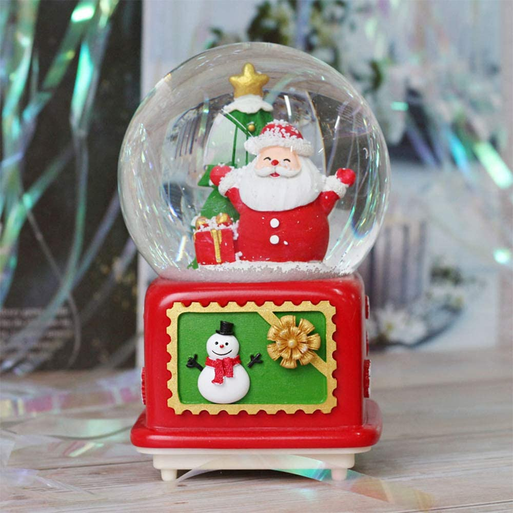 SURPRIZON Musical Snow Globe Music Deluxe Recommended with Colorful Lights Sant Box