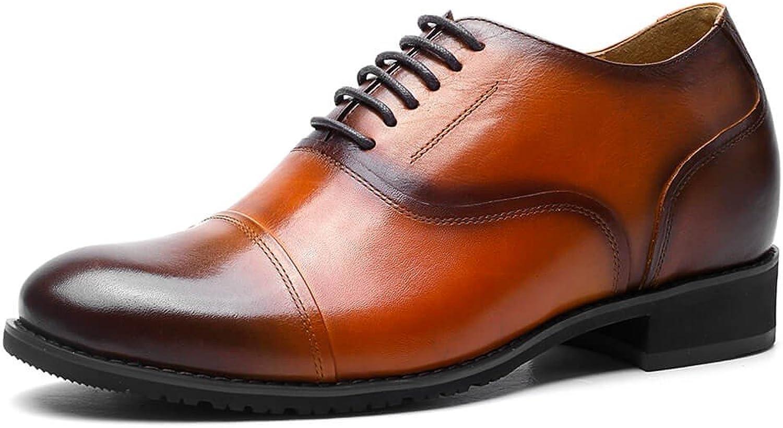 CHAMARIPA Mens Height Increasing Elevator Wedding shoes 2.56'' Taller Oxford Dress shoes 252H11-1