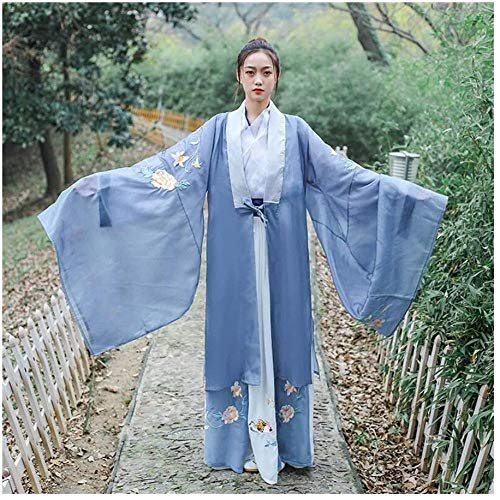 OKZH Hanfu Mujer Camisa De Manga Grande Bordada De Estilo Chino Tradicional Para Mujer Hanfu, Vestido De Hada Femenino, Estilo Antiguo X Estilo Grande 2