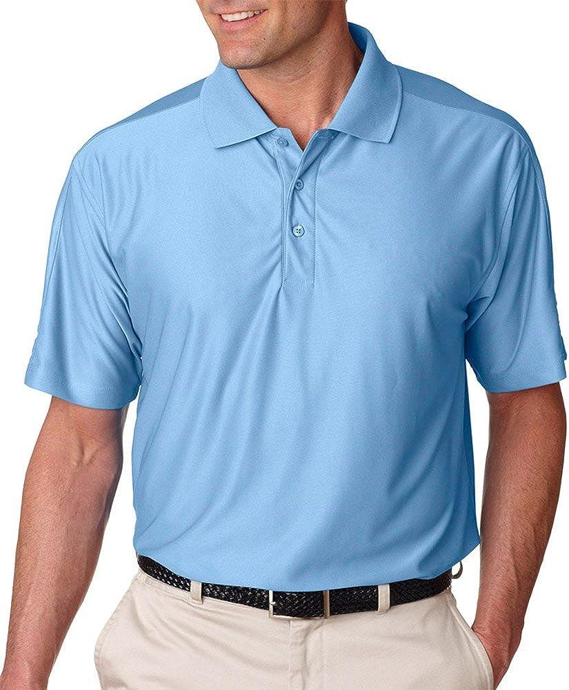 Ultraclub Men's Cool & Dry Elite Performance Polo Shirt, Columbia Blue, 5XL