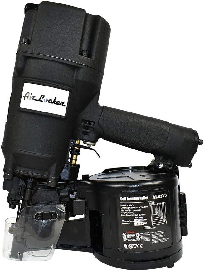 Air Locker AL83V3 3-1/4 Inch Full Round Head Coil Framing Nailer - -