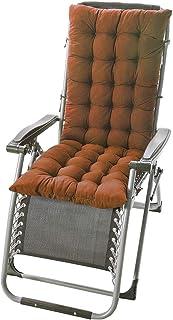 Stecto Cojines para tumbonas, suaves y largos, cojines para sillas, jardines, patios, antideslizantes, relleno de poliéster grueso, cojín para mecedora para oficina en casa