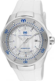 Technomarine Womens TM-215082 Manta Analog Display Automatic Self Wind White Watch