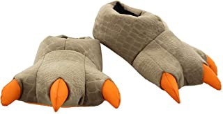 Jurassic World Kids Dinosaur 3-D Claw Feet Plush Slippers