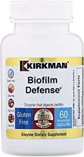 Kirkman Biofilm Defense || 60 Vegetarian Capsules || enzymes || Free of common allergens || Tested for more than 950 envir...