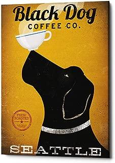 Epic Graffiti 'Black Dog Coffee Co Seattle' by Ryan Fowler Giclee Canvas Wall Art 12