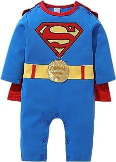 13cb61f7d7a37 Bébé bébé Superman Siamois Manches Longues vêtements bébé Rampant Costume  pour 1-12 Mois bébé