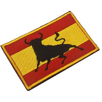 OYSTERBOY Bandera de España bordado brazalete tácticas militares de las Fuerzas Especiales de la moral de la placa de ropa de camuflaje mochila al aire libre de deportes parche (1pc): Amazon.es: Hogar