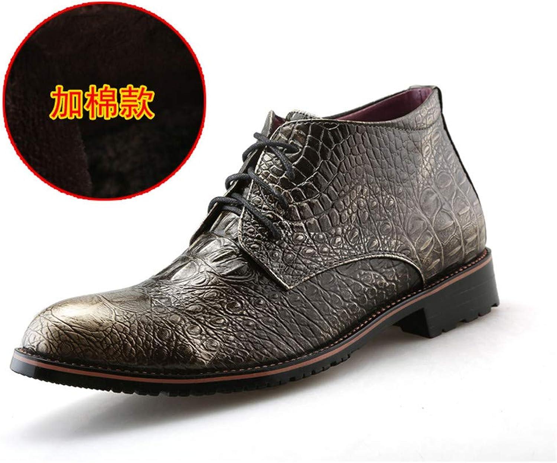 Shuo lan hu wai Oxford-beiläufige Oxford-beiläufige Oxford-beiläufige hohe Spitze Martin-Stiefel der Männer Geschäfts mit Mode-und Baumwollwarmen Art-formalen Schuhen,Grille Schuhe (Farbe   Warm Gold, Größe   39 EU)  749f11