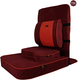Friends Of Meditation Extra Large Relaxing Buddha Meditation and Yoga Chair with backsupport and Meditation Block