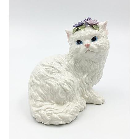 White Persian Cat Figurine