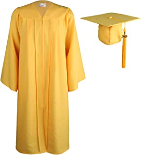 gold cap and gown