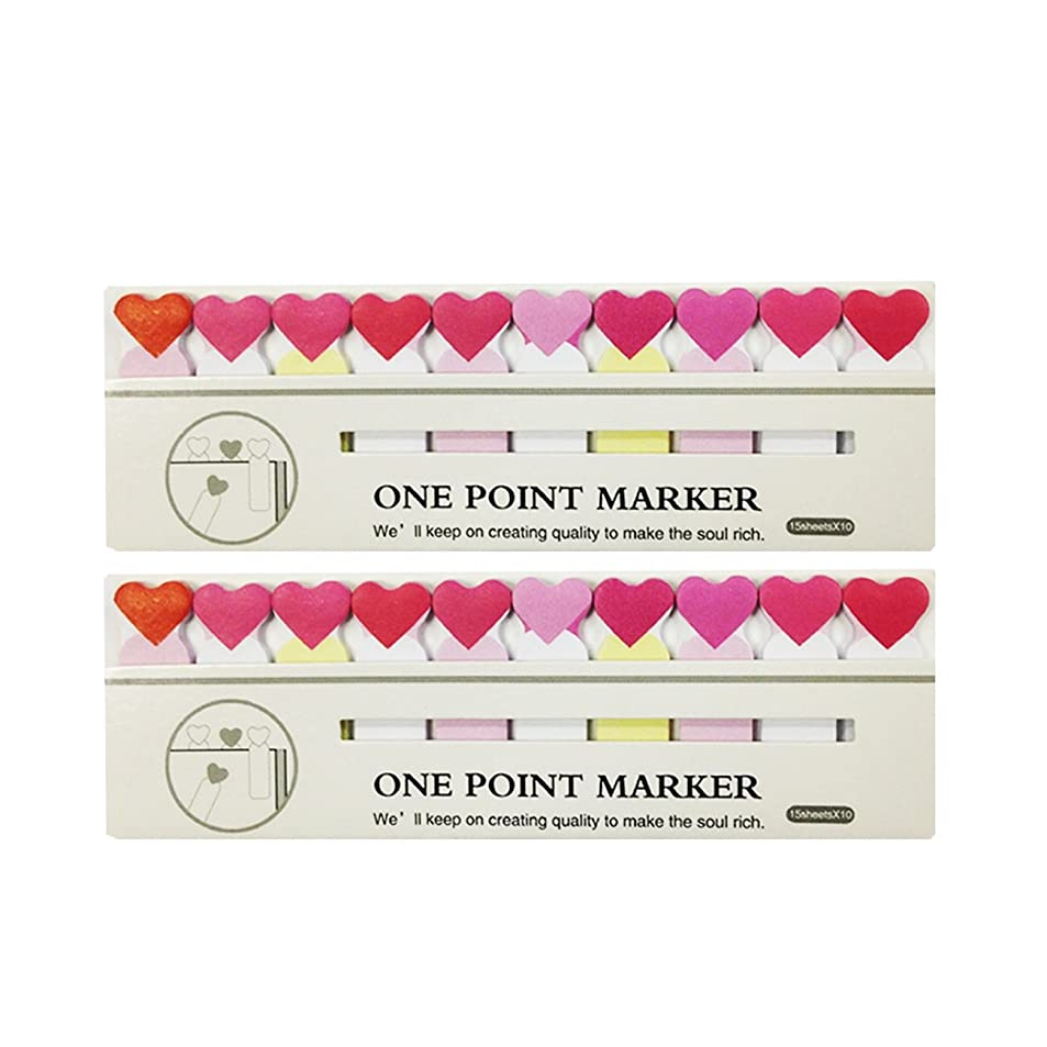 Wrapables Bookmark Flag Tab Sticky Notes, Hearts, Set of 2 mcyyykzt3531
