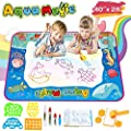 TONBUX Doodle Mat, Aqua Magic Water Drawing Mat Toddler Toys for Kids Aquadoodle Coloring Mat with Pen Markers for Age 3 4 5 6 7 8 9 10 11 12 Years Old Girls Boys Gift