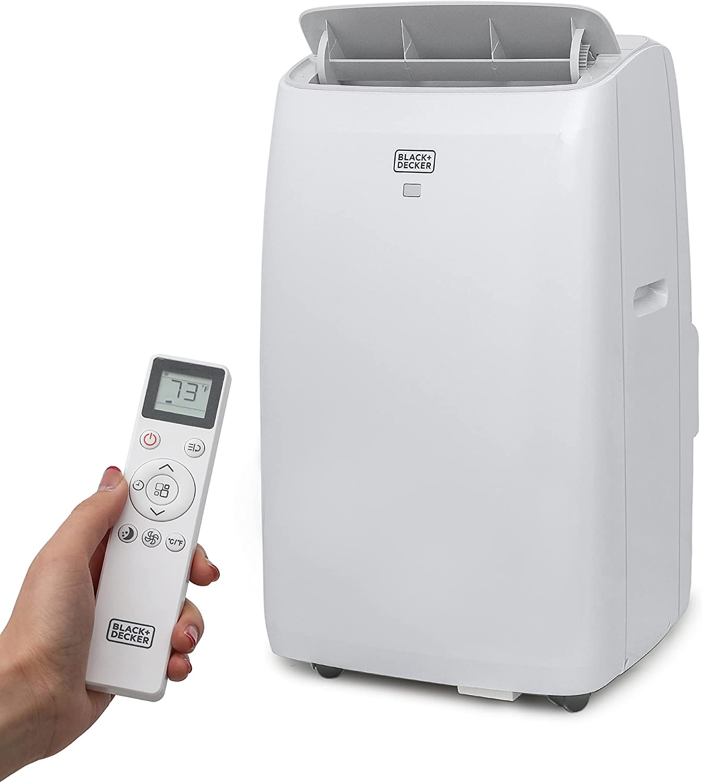 BLACK+DECKER BPT10HWTB Portable Air Conditioner with Heat, 10,000 BTU SACC/CEC (14,000 BTU ASHRAE), Cools Up to 450 Square Feet, White