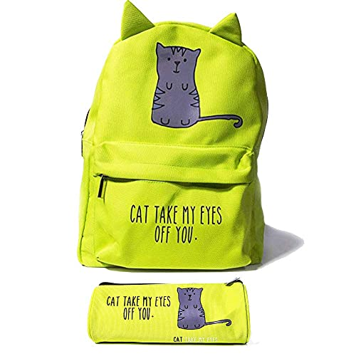 Bubblegum Cases Supercute Kawaii Backpack and Pencil Case Set for Women for  Girls (CAT Take 0b322a2c446bc