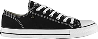 309e4426a Soviet Mens Dave Low Canvas Trainers Lace Up Tonal Stitching