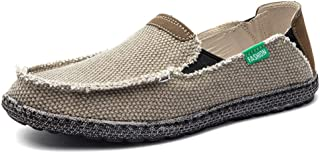 Shhshop Driving Loafer for Men Boat Moccasins Slip Ons Mesh Material Personality Stitching Round Toe h1124 (Color : Aprico...
