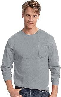 Hanes Men's Tagless Long-Sleeve T-Shirt with Pocket