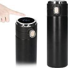 Baugger 420ml Garrafa isolada a vácuo inteligente Tela de temperatura em tempo real LED Touch Screen Garrafa de aço inoxid...