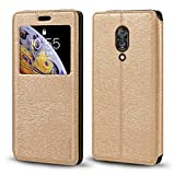 Lenovo Z5 Pro Case, Wood Grain Leather Case with Card