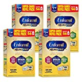 Enfamil NeuroPro Baby Formula Milk Powder 31.4 oz Refill Box, Dual Prebiotics for Immune Support, Infant Formula Inspired by Breast Milk, Brain-building DHA & MFGM, Iron, Non-GMO (4 pack)