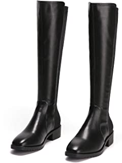 Knee High Boots for Women I Black Boots for Women I Stretch Boots for Women with Block Heel I Thigh High Boots I Suede Sock Boots I Lycra Stretch Knee High Boots