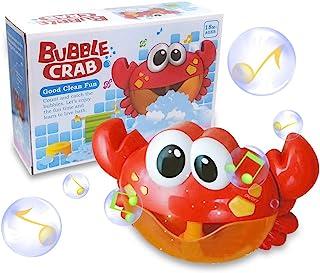ZHENDUO Baby Bath Bubble Toy Bubble Crab Bubble Blower Bubble Machine Bubble Maker with Nursery Rhyme Bathtub Bubble Toys for Infant Baby Children Kids Happy Tub Time