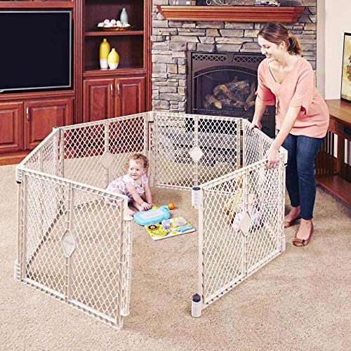 """201/"""" North States Superyard 6-Panel Play Yard//Barrier with Wall Mount Kit Cre"""