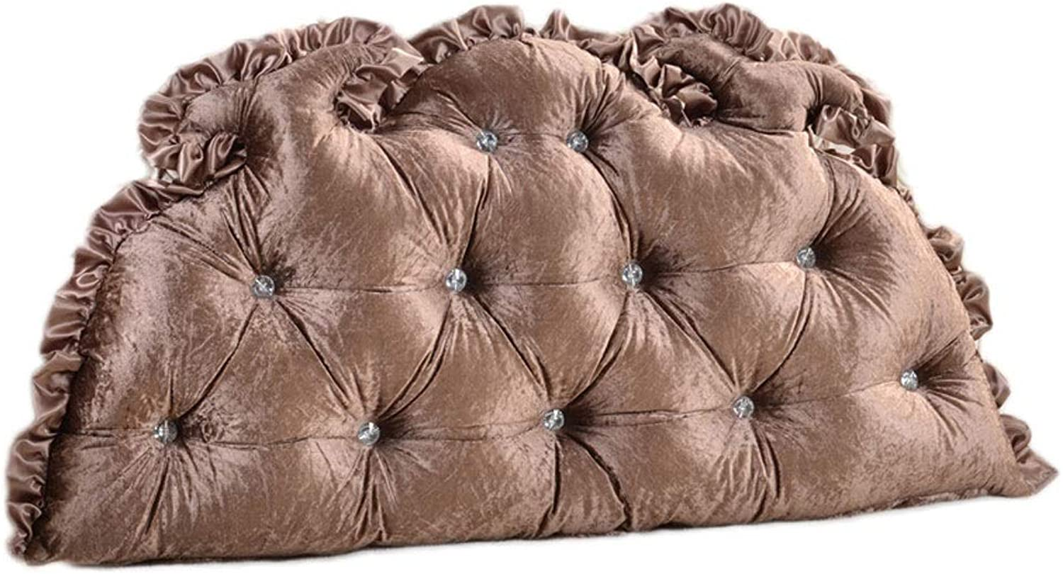 European Double Bed Pillow Cushion Headboard Soft Pack Mattress Large Back Waist Bed Back Cushion Removable and Washable (color   Brown, Size   75  120CM)