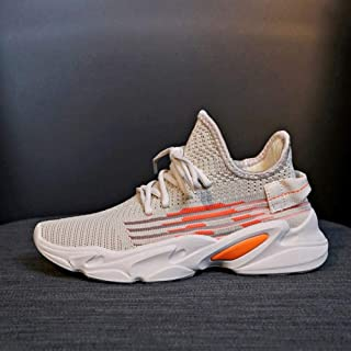 Breathable Sports Shoes Female Korean Version of The Wild Student Casual Shoes Female 2019 Summer New Socks Shoes Increased Shoes (Color : Beige, Size : 38)