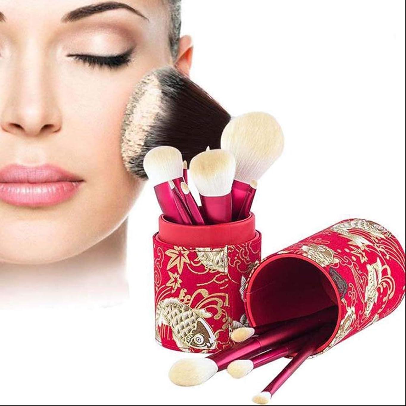休日最近意図的中国の赤い化粧ブラシ化粧ペン美容キット