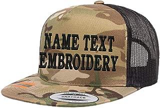 Custom Trucker Hats Embroidery Flat Bill Personalized Yupoong Mesh Snapback Hat
