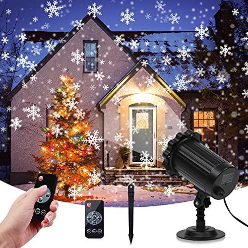 Luces de Proyector de Nieve,MOZIGGAO Proyector de Navidad con Efecto de Nevadas,Interior...