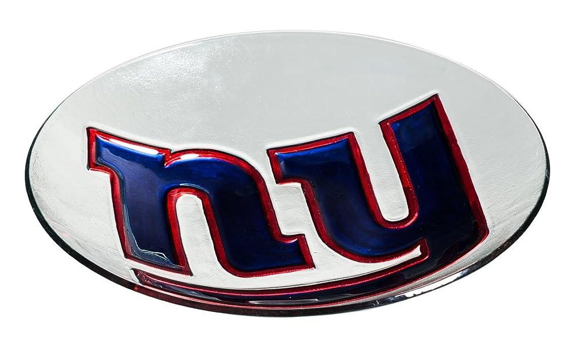 Team Sports America NFL New York Giants Glass Bird Bath, Medium, Multicolored