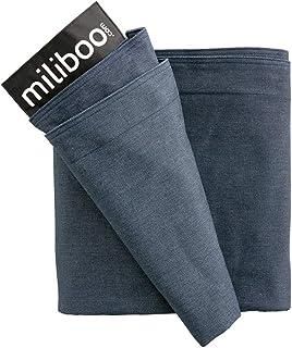 Miliboo Housse de Pouf géant en Coton Bleu Jean BIG MILIBAG